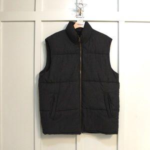 Men's Gap Charcoal Grey Wool Puffer Vest
